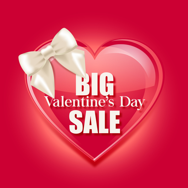 valentine day big sale vector template - Valentine Sale