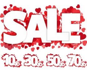Valentine day sale discount design vector