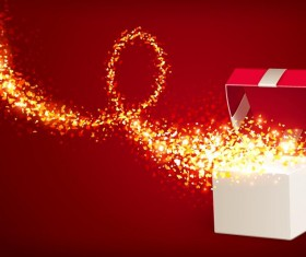 Valentine gift box with red background vectors 07