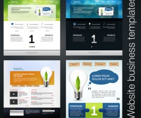Vector business wetsite template material set 01