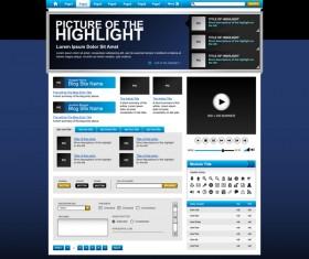 Vector business wetsite template material set 03