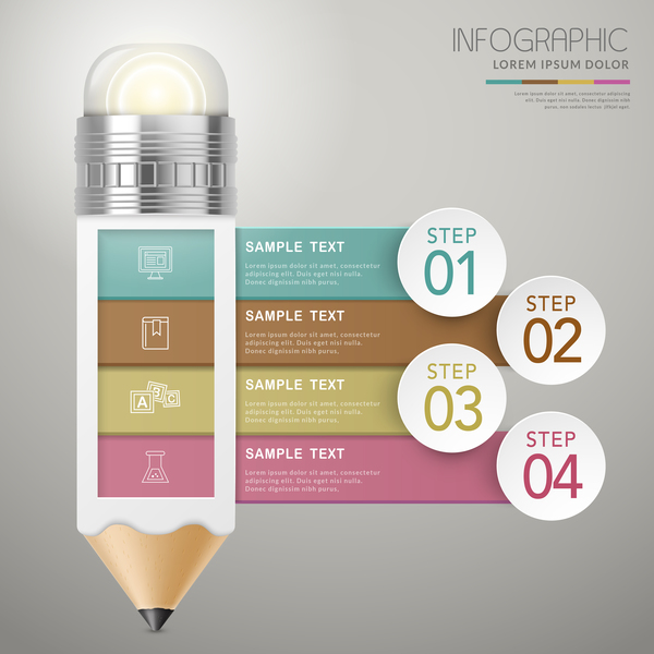 Vector education infographic template material 09 - Vector ...