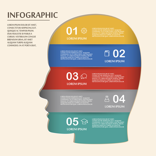 Infographic Ideas infographic template education : Vector education infographic template material 12 - Vector ...
