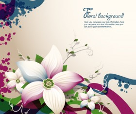 Vector flral background graphic material