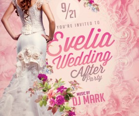 Wedding After Party Flyer PSD Template
