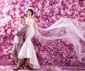Wedding photographs of newlyweds Stock Photo 01