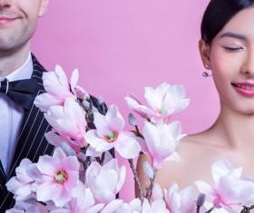 Wedding photographs of newlyweds Stock Photo 02
