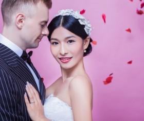 Wedding photographs of newlyweds Stock Photo 03