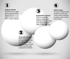 White balls with infographics vectors template 01
