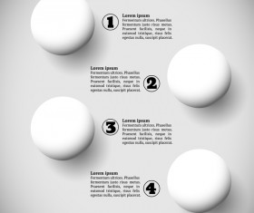 White balls with infographics vectors template 03