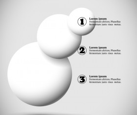 White balls with infographics vectors template 05