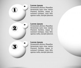 White balls with infographics vectors template 09