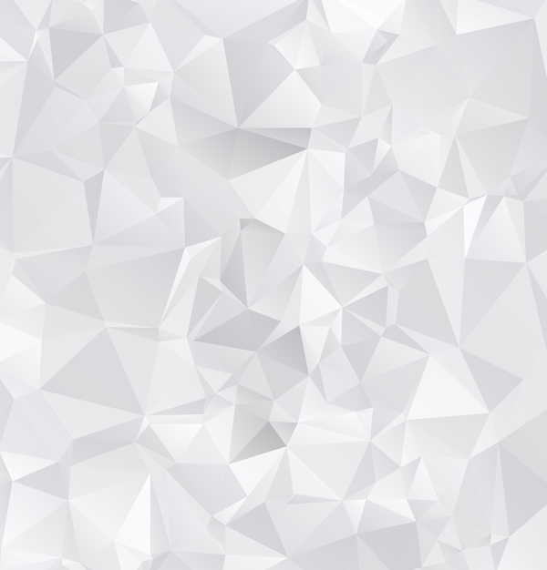 White geometric shapes backgrounds vector set 01