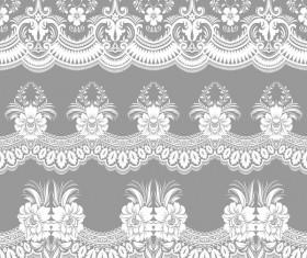 White lace seamless pattern vectors