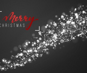 White light dots christmas abstract vector