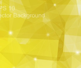 Yellow geometric polygon background vector material