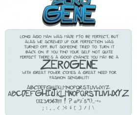 Zerogene fonts