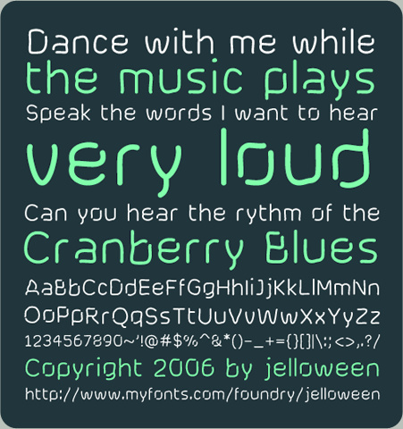 cranberry blues font pack