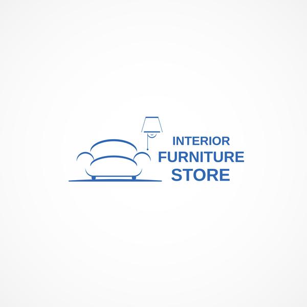 Interior Fuiniture Store Logo Design Vector