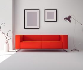 living room interior design vector 02