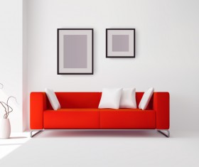 living room interior design vector 03