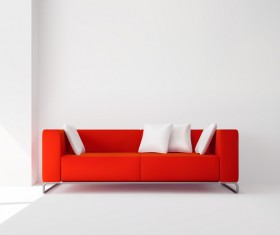 living room interior design vector 04