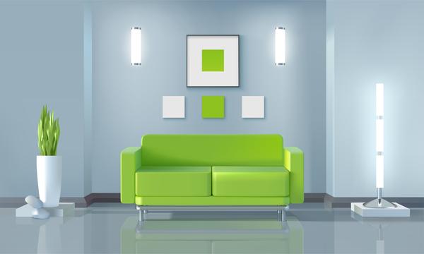 Living Room Interior Design Vector 10