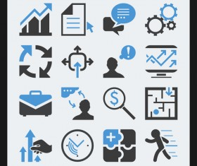 16 kind grid based icon