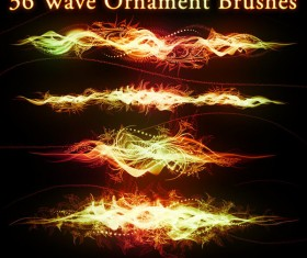 36 Wave Ornament photoshop brushes