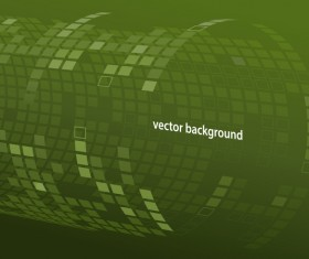 3D tube tech green background vector