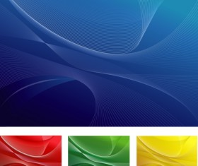 4 Colored abstract background vector