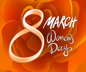 International Women Day greeting card. Background template March 8 vector