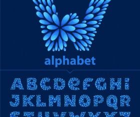 Abstract alphabet creative design vector