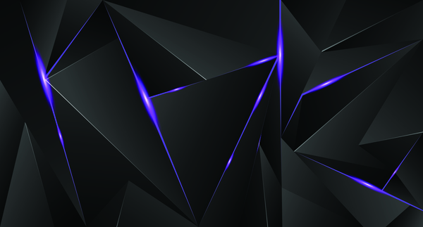 Abstract black background with purple light vector ...