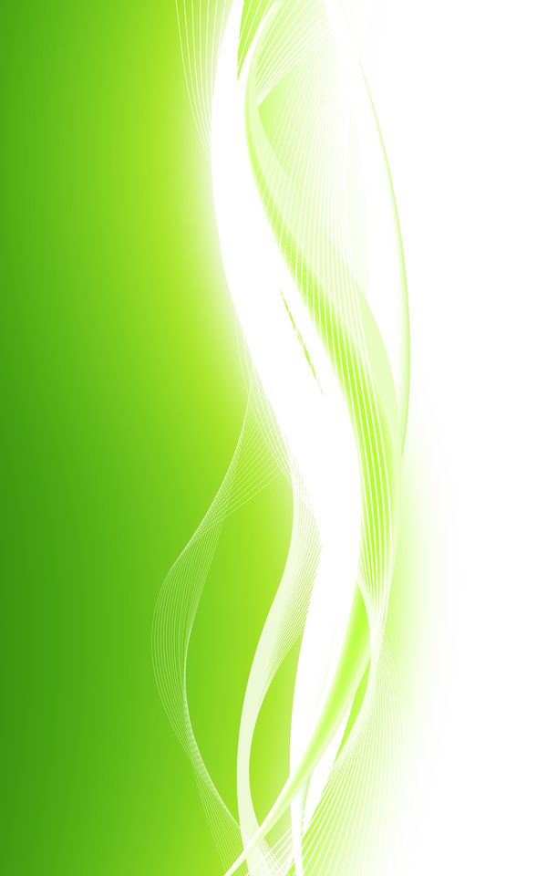 Abstract Green Waves Data Stream Vector Background Free Download