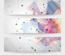 Abstract modern banner vectors material