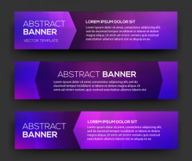 Abstract purple banner template vector