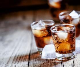 Add ice whiskey Stock Photo 01