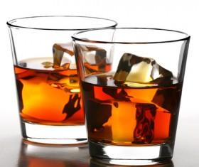 Add ice whiskey Stock Photo 02