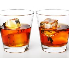 Add ice whiskey Stock Photo 03