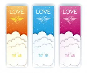 Airy love flayer vertical banner vector