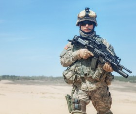 Armed soldiers Stock Photo 01