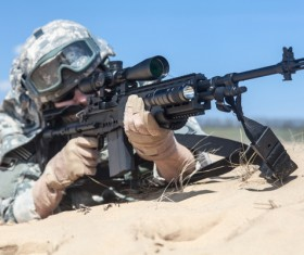 Armed soldiers Stock Photo 03