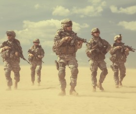 Armed soldiers Stock Photo 04