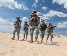 Armed soldiers Stock Photo 05