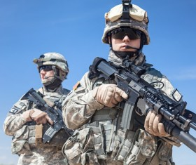 Armed soldiers Stock Photo 06