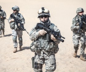 Armed soldiers Stock Photo 07