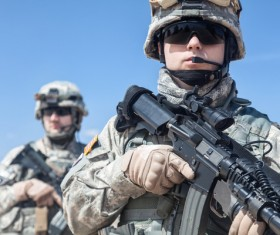 Armed soldiers Stock Photo 08