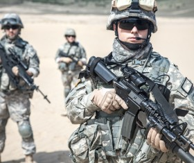 Armed soldiers Stock Photo 09