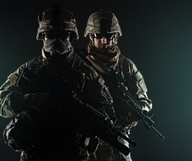 Armed soldiers Stock Photo 11